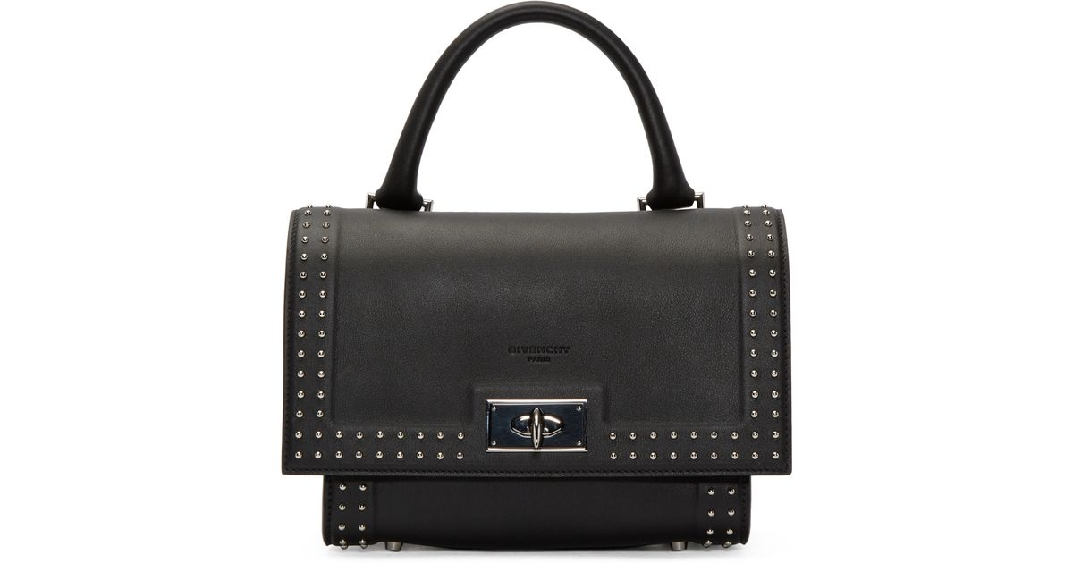 43709eb650 Givenchy Black Studded Mini Shark Bag in Black - Lyst