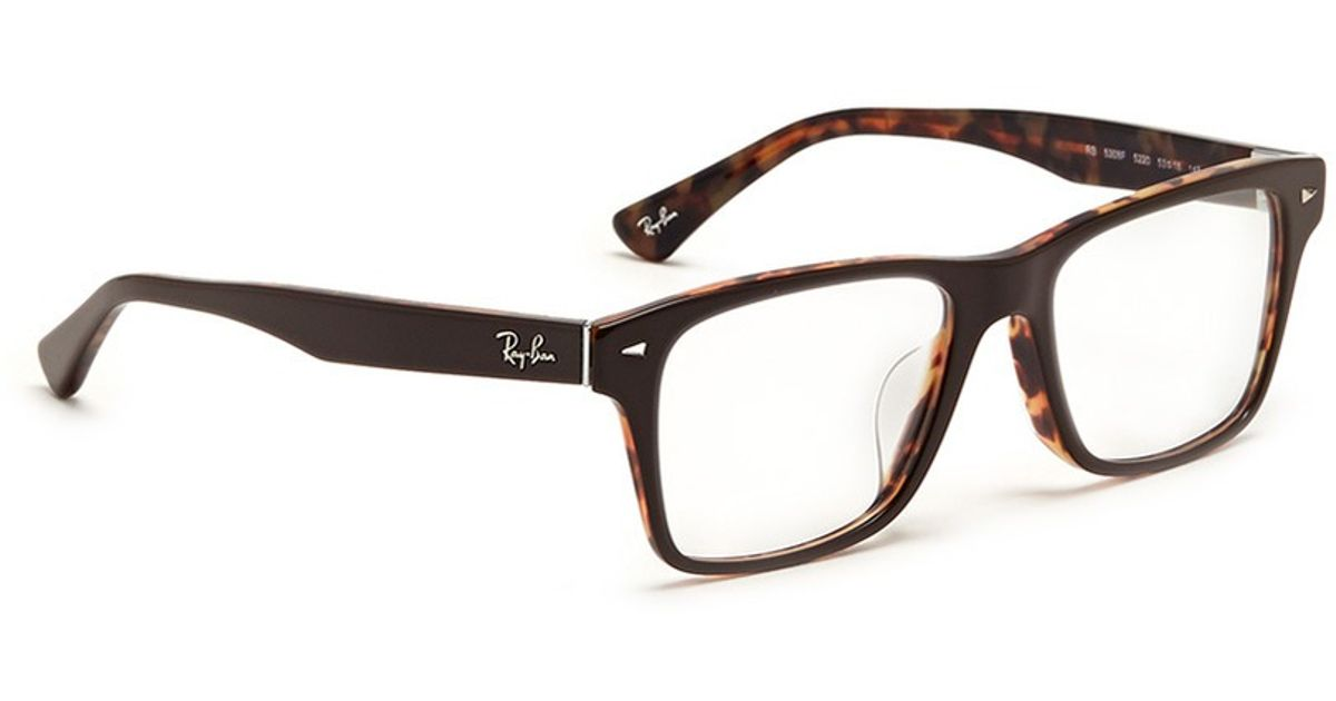 Ray Ban Square Frame Glasses : Ray-ban Two Tone Square Frame Acetate Optical Glasses in ...