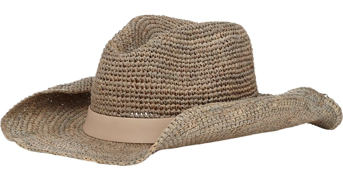 Hat Attack Crochet Cowboy Hat In Natural Lyst