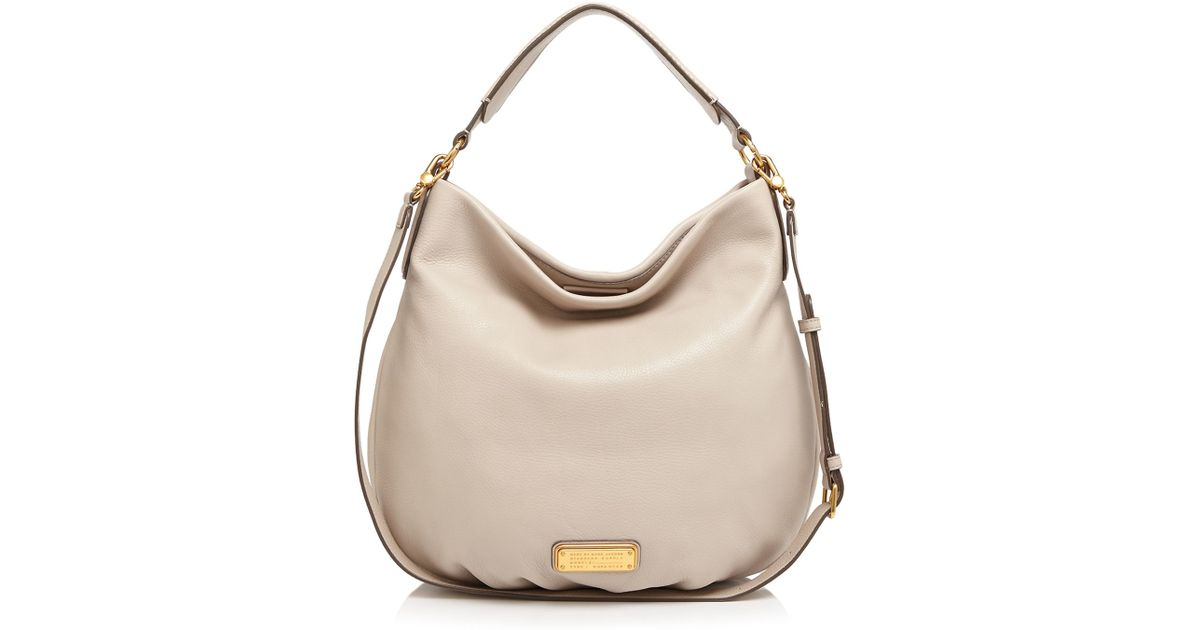 Marc Jacobs Hobo Laukku : Marc by jacobs hobo new q hillier in pink lyst