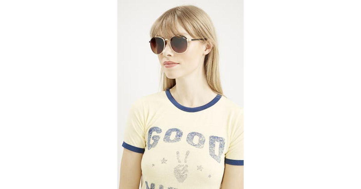 1e5aa87e73 TOPSHOP Sundance Sunglasses By Quay in Brown - Lyst