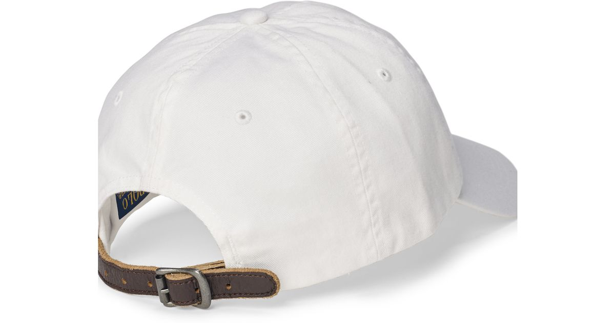 b6f4e6c1d4eb Lyst - Polo Ralph Lauren Embroidered Chino Baseball Cap in White for Men
