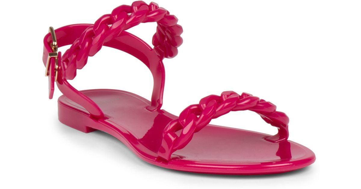 b104362ddd13 Lyst - Givenchy Nea Jelly Flat Sandals in Pink