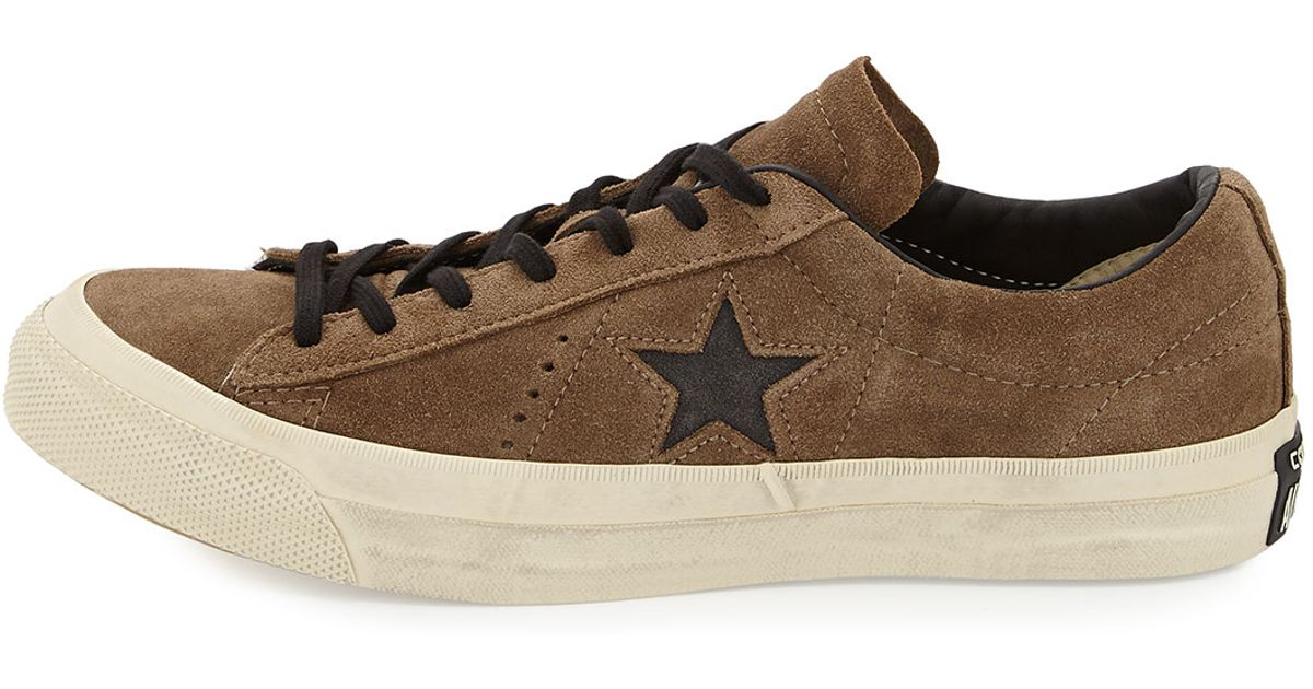 828427cc6153 ... real lyst converse star suede cut out low top sneaker in brown for men  c1435 6e950