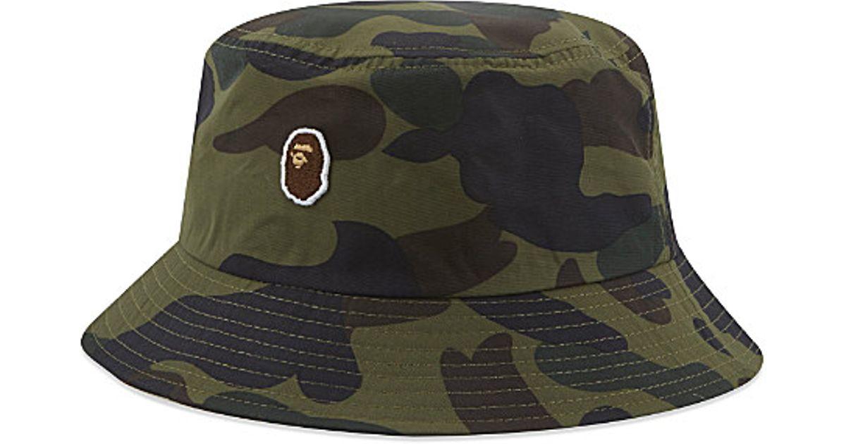A Bathing Ape 1st Camo Bucket Hat in Green for Men - Lyst 0db2b6881ec