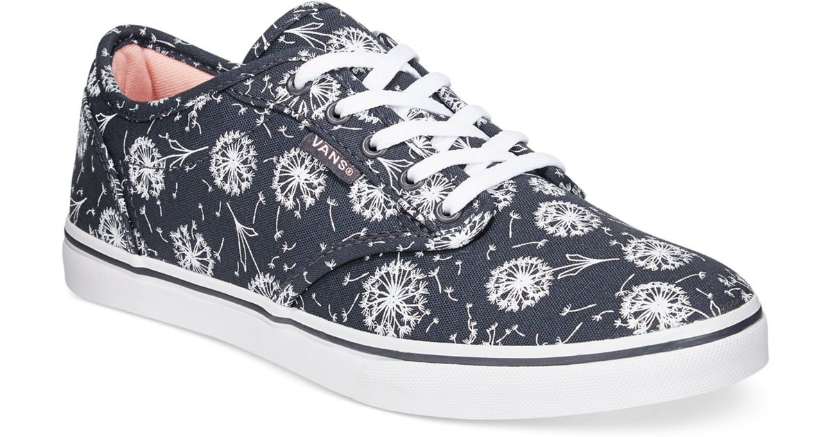 99816a3ae05858 Lyst - Vans Women s Atwood Low Dandelion Lace-up Sneakers in Blue