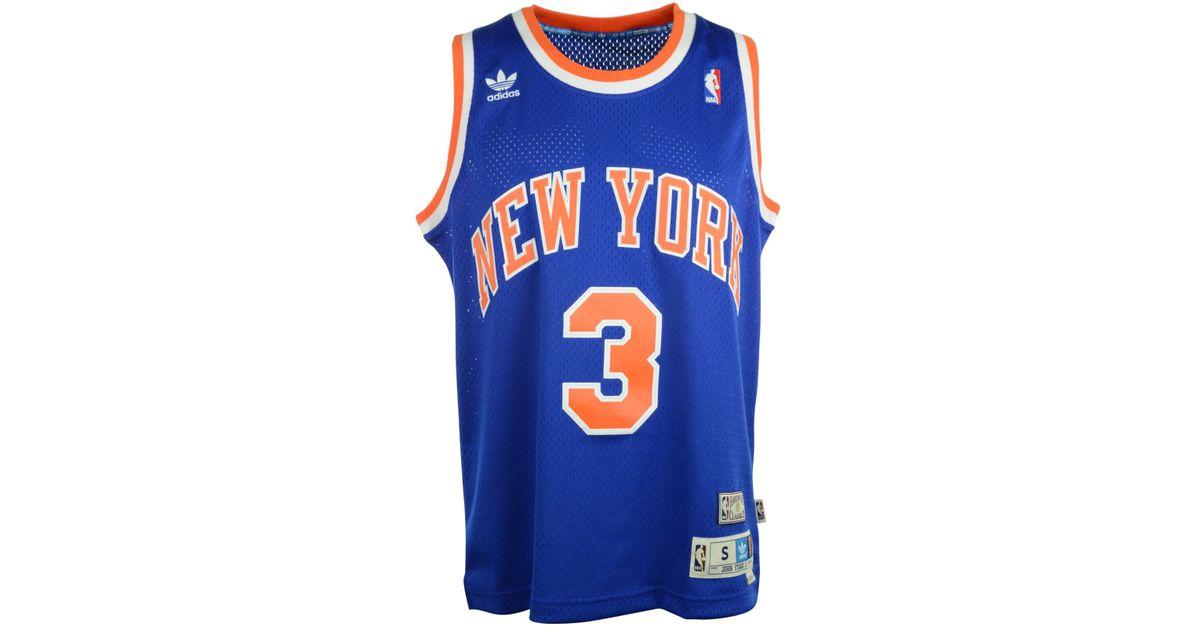 0636eddd1df ... germany adidas john starks new york knicks swingman jersey in blue for  men lyst 23118 76e33