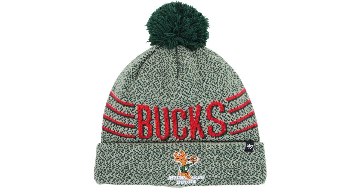 buy popular 57e37 5608e ... sweden lyst 47 brand milwaukee bucks mezzo knit hat in gray for men  fb469 96169