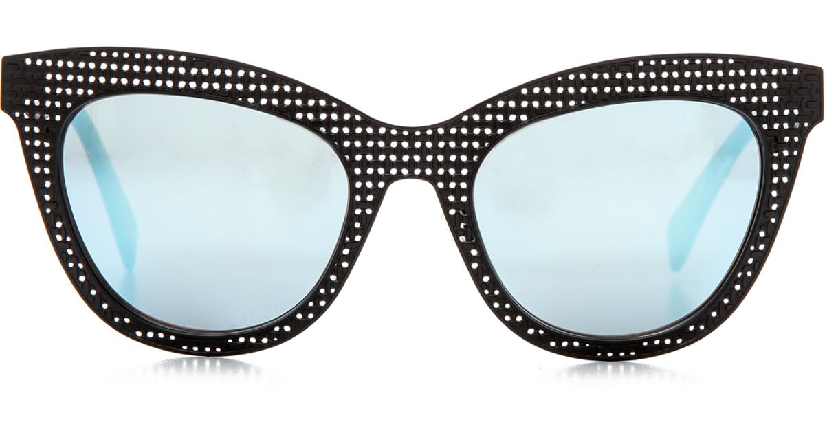 eb568b4bb6fd Marc By Marc Jacobs Perforated Metal Mirrored Sunglasses - Red/Silver Mirror  in Black - Lyst
