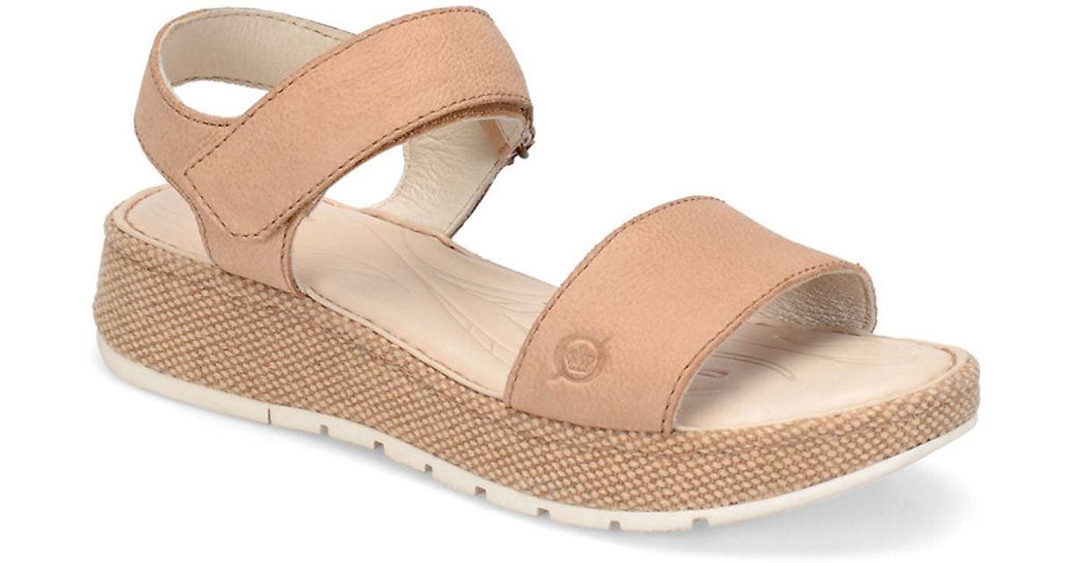 ea0d2f26ce30 Lyst - Born Petula Nubuck Sandals
