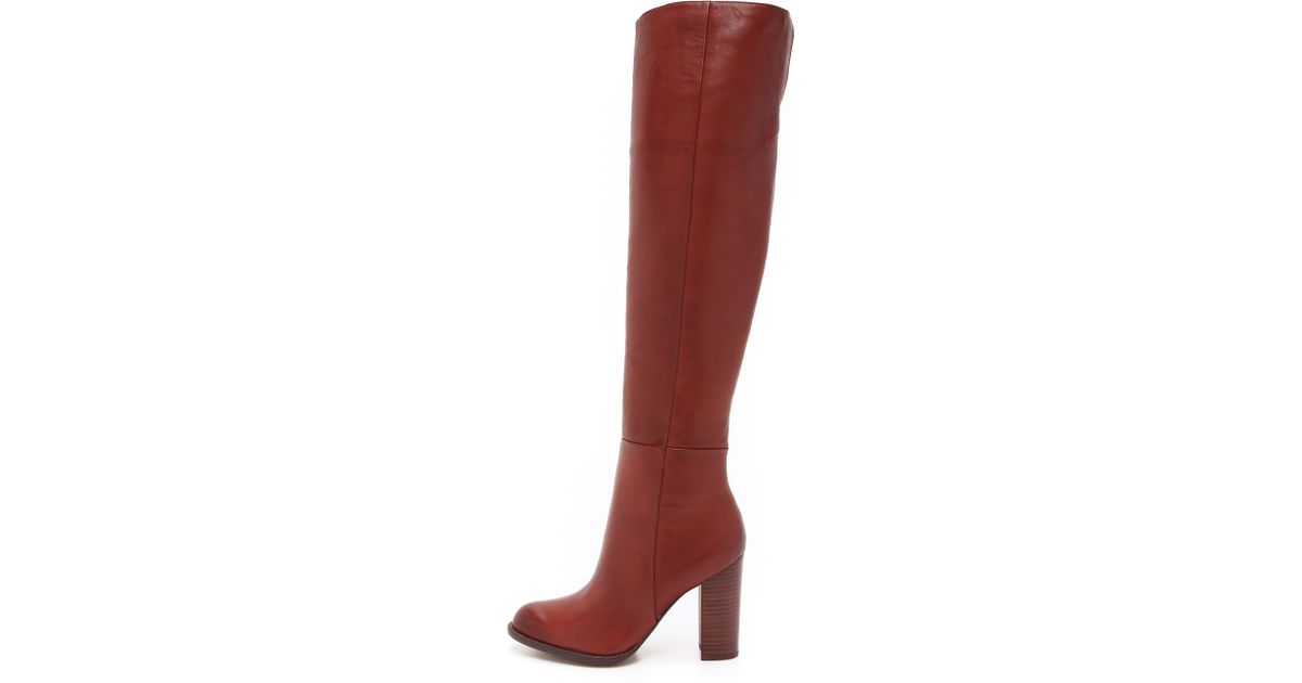223ab090f5df51 Lyst - Sam Edelman Rylan Tall Boots - Rust Red in Brown