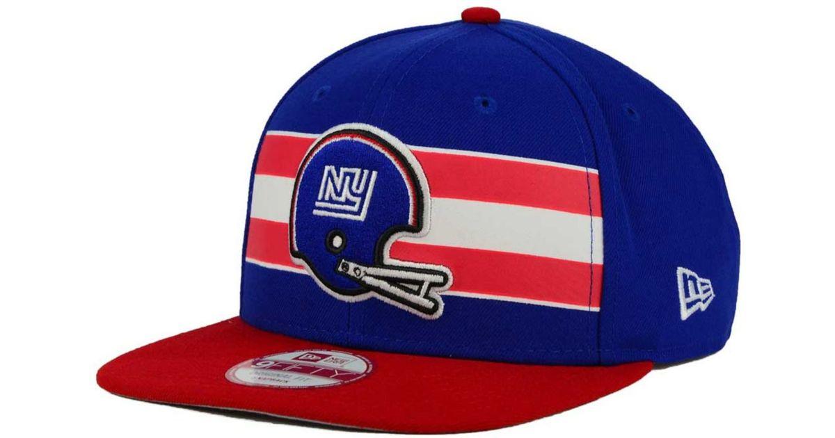 e3eb62544 Lyst - KTZ New York Giants Retro Striped 9fifty Snapback Cap in Blue for Men