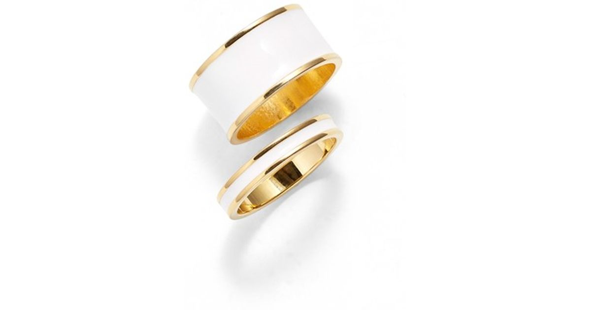 rings neal and round bario ring enamel jewelry engagement gold senna wedding