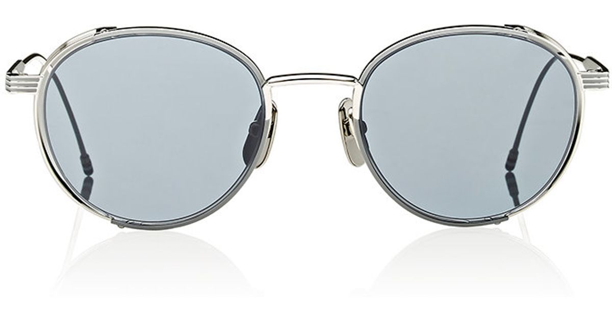 00318d297cc Lyst thom browne mens enamel detailed small round sunglasses in black for  men jpeg 1200x630 Thom