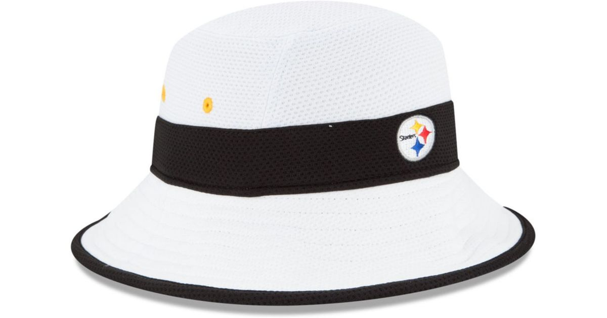 Lyst - KTZ Pittsburgh Steelers Training Camp Official Bucket Hat in White  for Men 62cbd9661