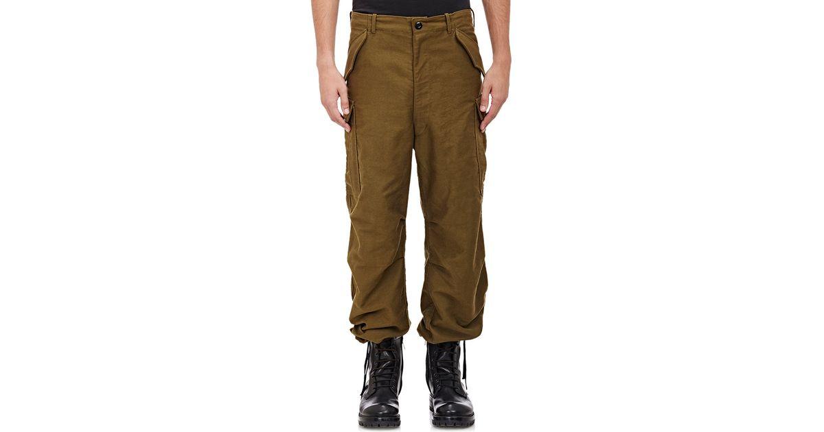 100% original fine craftsmanship shop Faith Connexion Green Men's Military Oversized Cargo Pants for men