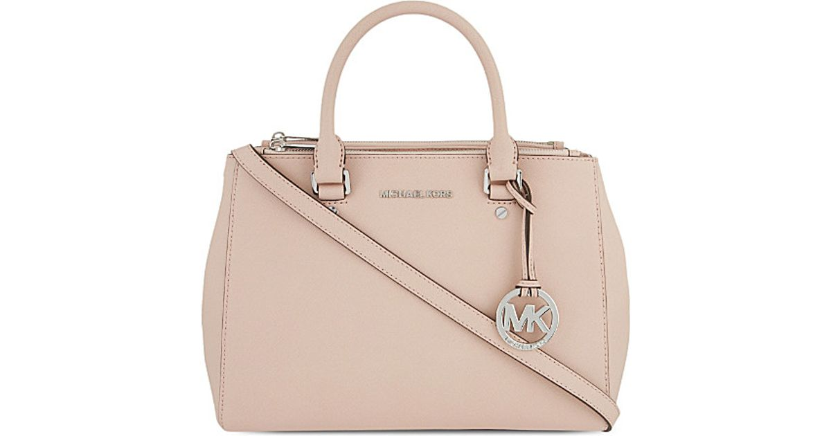 efa3576d17bd10 Lyst - Michael Michael Kors Sutton Medium Saffiano Leather Satchel in Pink