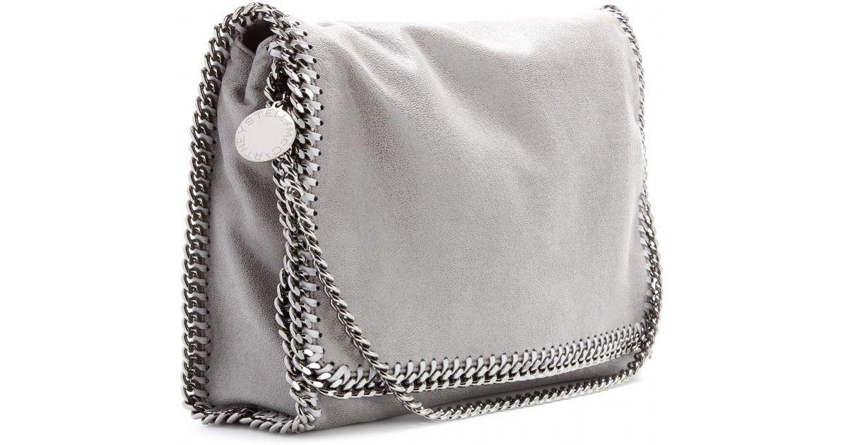 a45de6cbef Stella McCartney Falabella Shaggy Deer Messenger Bag in Gray - Lyst