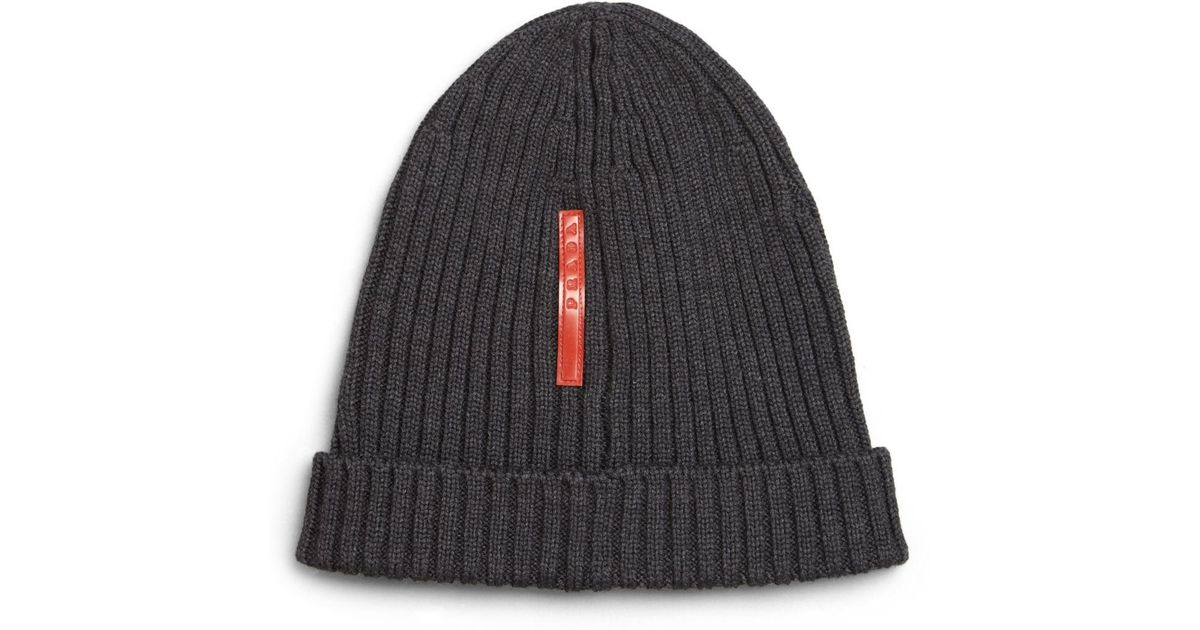 rabbit knitted hat - Black Prada pZh5csIQZ