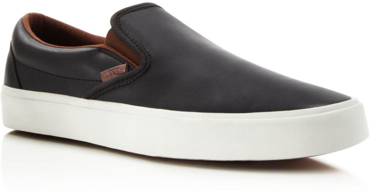 0998f8c2384 Vans Classic Slip-on Ca Veggie Leather Sneakers in Black for Men - Lyst