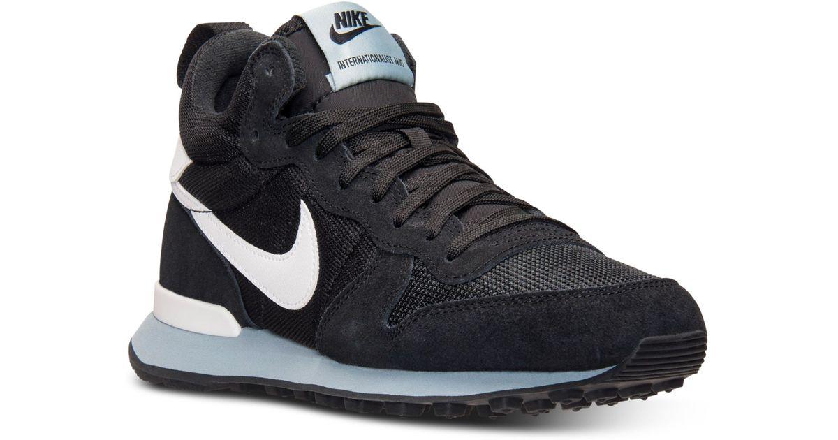 ... germany lyst nike womens internationalist mid casual sneakers from  finish line in black 4d7b5 56ec9 e6b693dd5