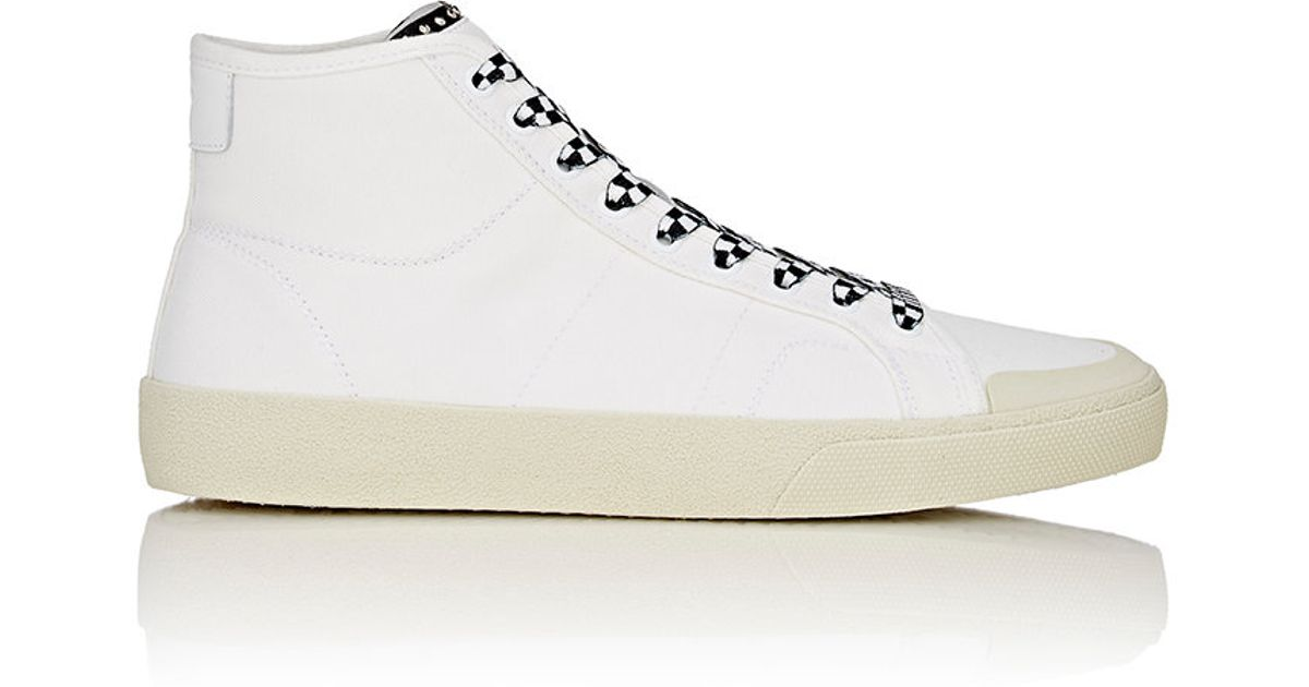 b6fb8f77634 Laurent Top Surf White Sneakers Men Saint For Canvas Mid Sl37m In RO7nZqZX