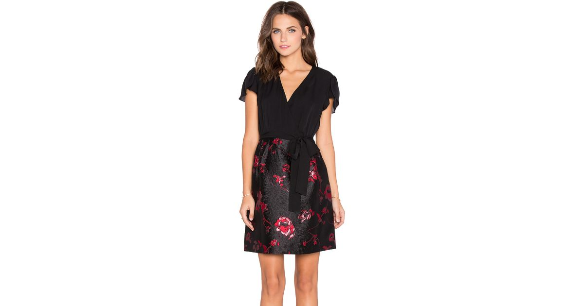 Outlet Official Site Wholesale Price Online floral wrap dress - Red Diane Von F Comfortable Cheap Price lKpYl
