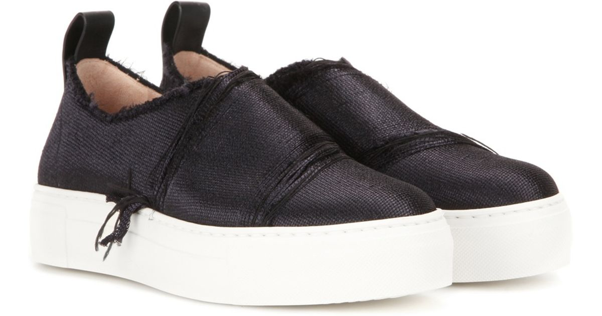 calvin klein ariel slip on sneakers in black lyst. Black Bedroom Furniture Sets. Home Design Ideas