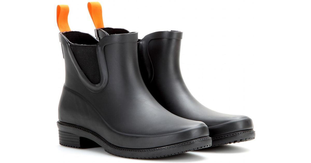 007132c22 Swims Dora Rubber Ankle Boots in Black - Lyst