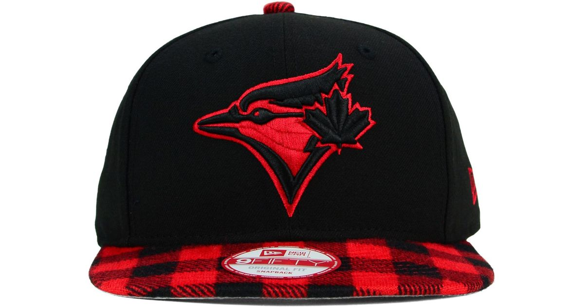 8ddc8411e6a ... inexpensive ktz toronto blue jays premium plaid 9fifty snapback cap in  red for men lyst 39a0c ...