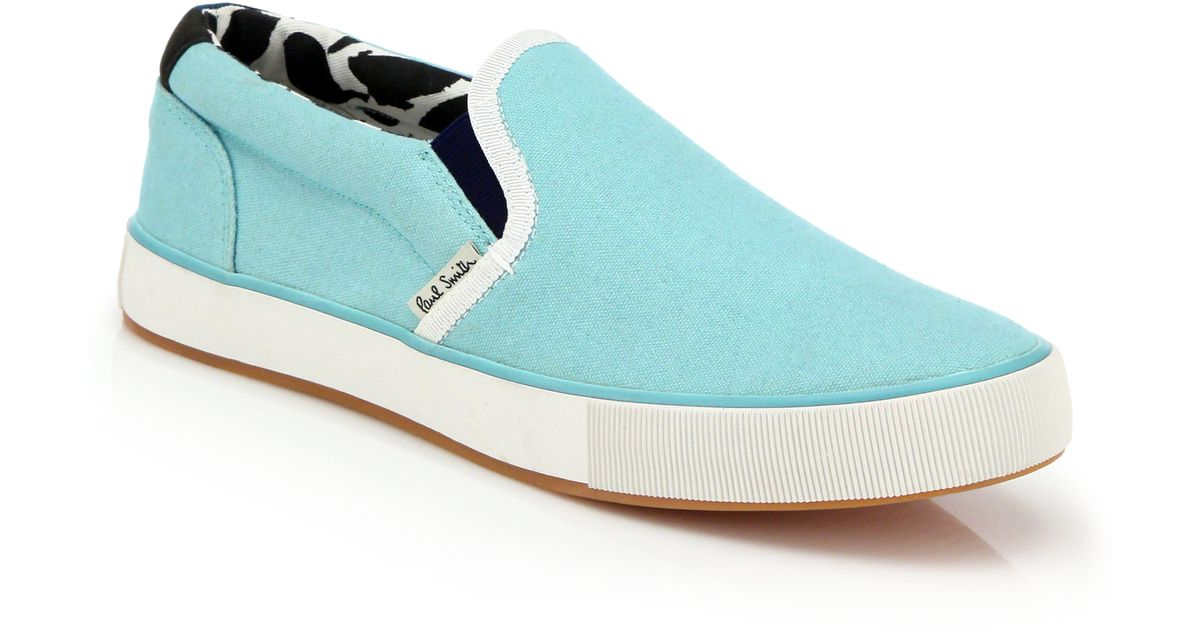 paul smith brontis canvas sneakers in blue turquoise lyst