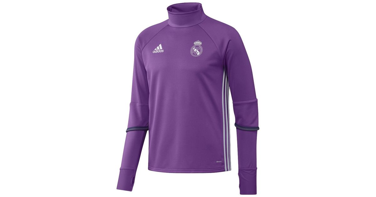 0b37cf50956 Adidas Originals Real Madrid Cf 2016-2017 Training T-shirt in Purple for  Men - Lyst