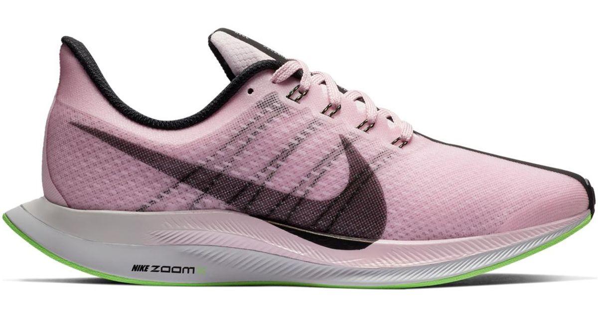 c8b2e56bb54 Lyst - Nike Zoom Pegasus 35 Turbo Running Shoes in Pink