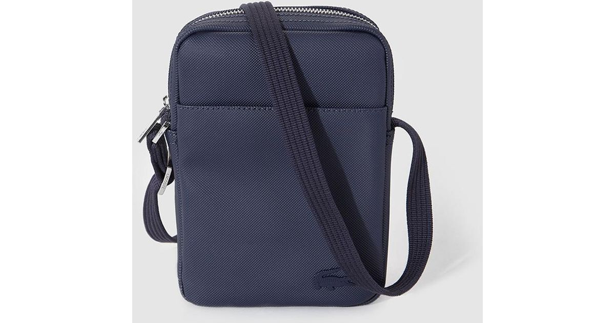 18ee21ac7a2 Lacoste Mens Navy Blue Crossbody Bag With Zip in Blue for Men - Lyst