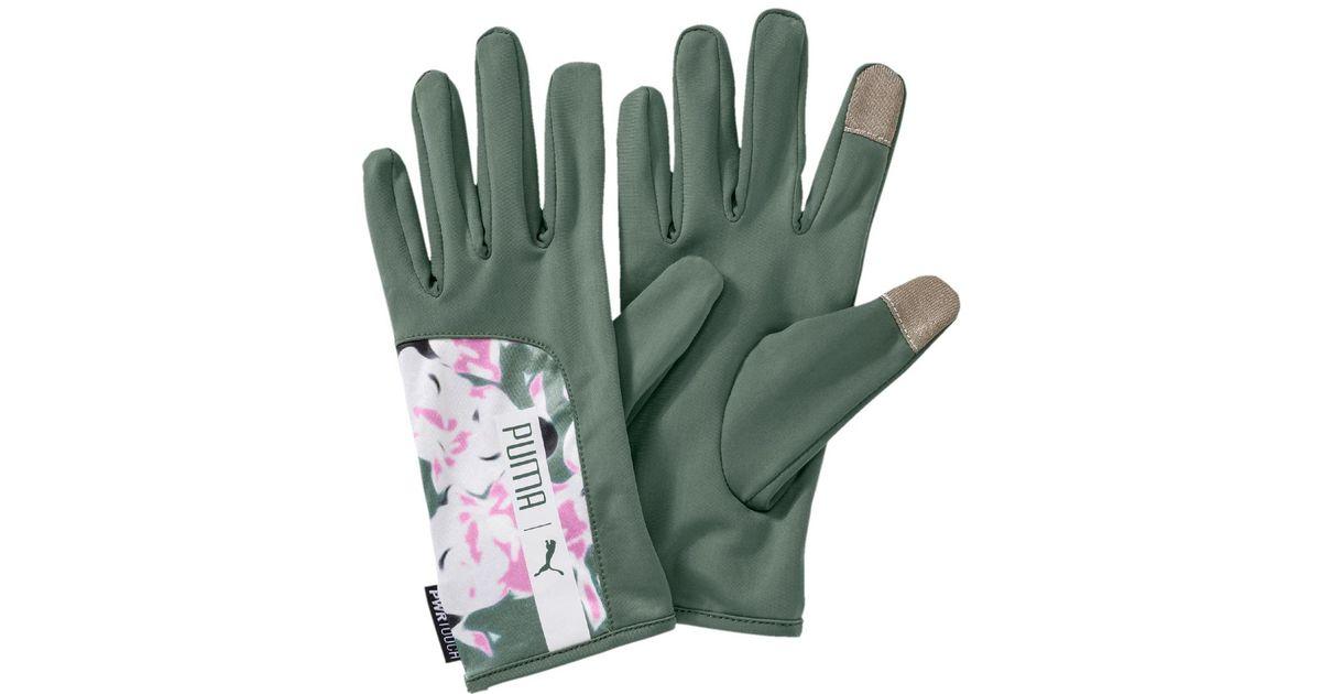 c8a004e8a977 Lyst - PUMA Running Gloves in Green