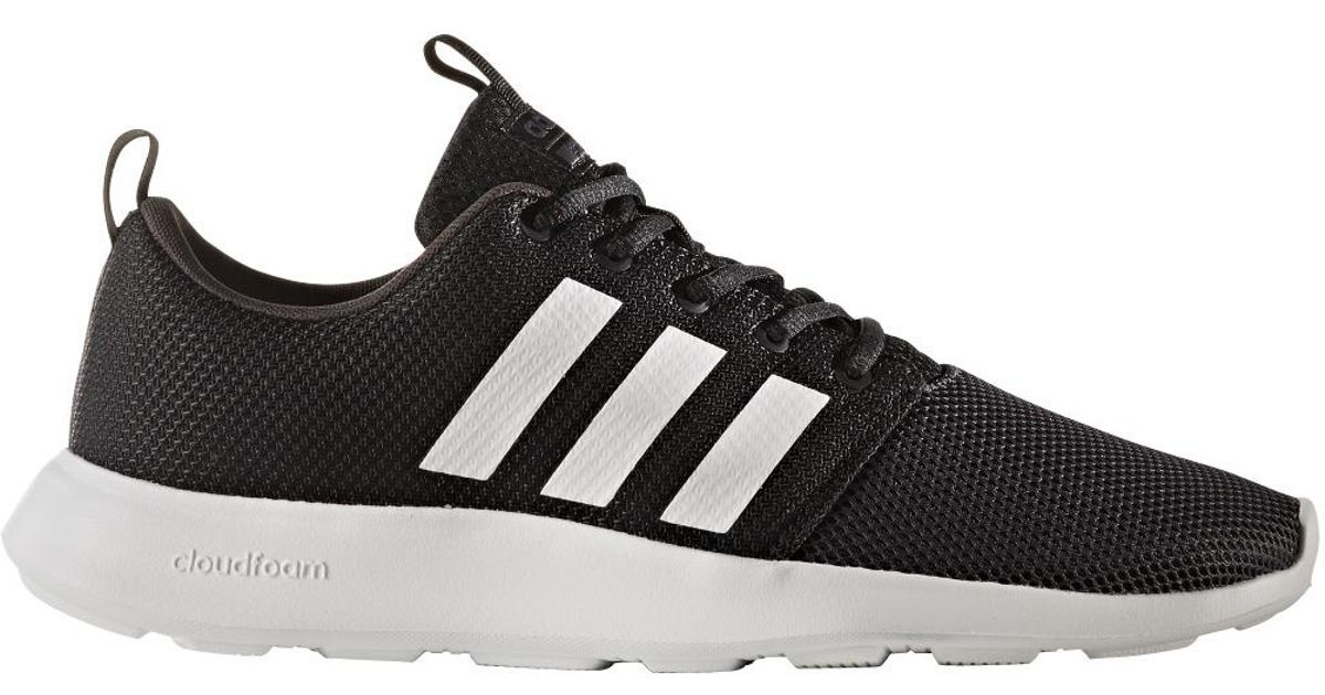 7c8edf836 ... discount code for lyst adidas neo cloudfoam swift racer causal trainers  in black for men 43009