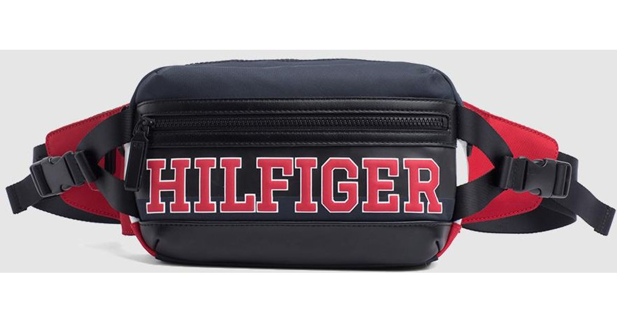 5ac1164b Tommy Hilfiger Nylon Belt Bag Style Crossbody Bag With The Corporate  Colours in Blue for Men - Lyst