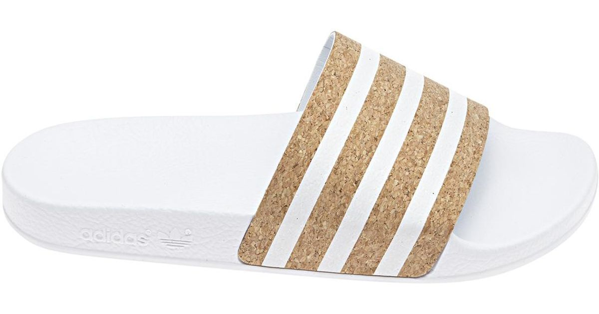d40a91d14c693 Lyst - adidas Originals Adilette Sliders in White