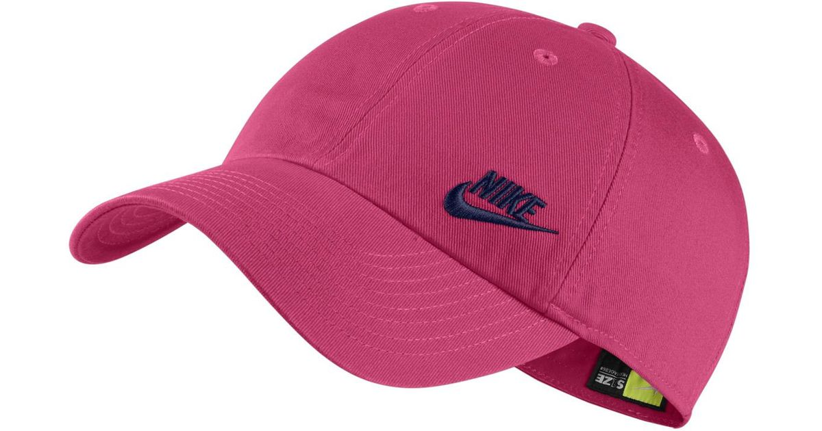 99fa7521eab Lyst - Nike Heritage 86 Training Cap in Pink for Men