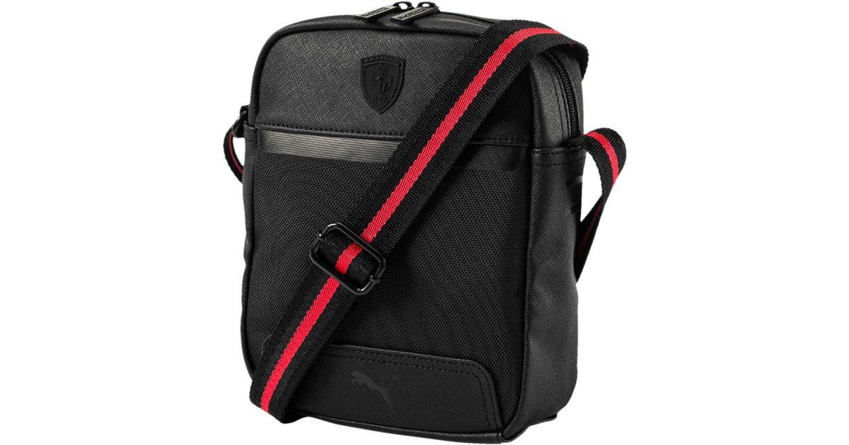 4d5764063 PUMA Ferrari Ls Portable Bag in Black - Lyst