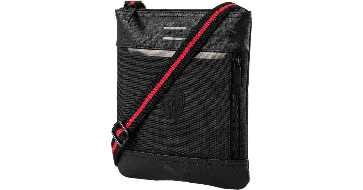 e5c41360c2 PUMA Ferrari Ls Flat Portable Bag in Black for Men - Lyst