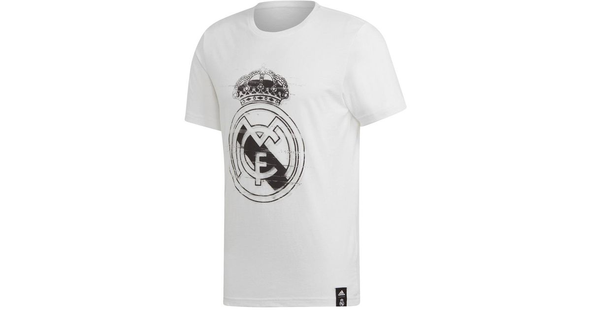 0c4f25ba839 adidas Real Madrid Cf 2018-2019 T-shirt in White for Men - Lyst