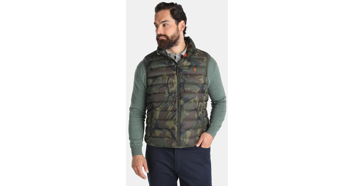 polo ralph lauren big and tall quilted green gilet in. Black Bedroom Furniture Sets. Home Design Ideas