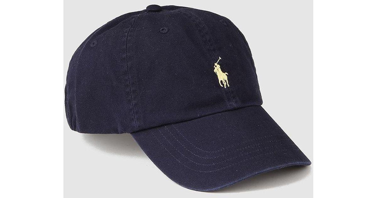 bdd4fc5f70894f Lyst - Polo Ralph Lauren Navy Blue Cap With Logo in Blue for Men