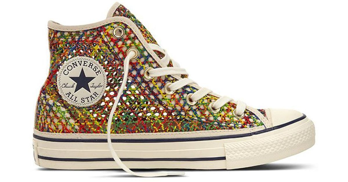 1c98b755c Converse Chuck Taylor All Star Handmade Crochet Casual Canvas High-top  Trainers - Lyst