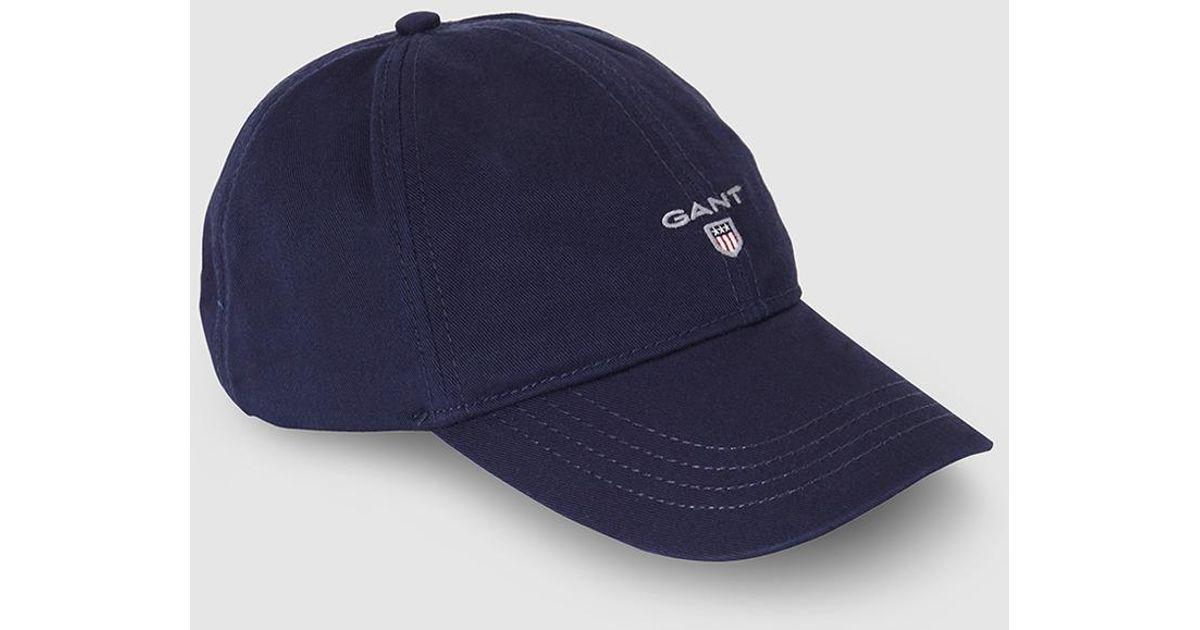 d496c285 GANT Navy Blue Baseball Cap in Blue for Men - Save 57% - Lyst
