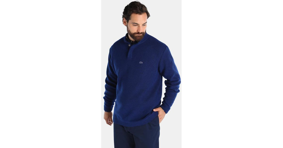 Lyst Lacoste Big And Tall Sweater With A Polo Neck In