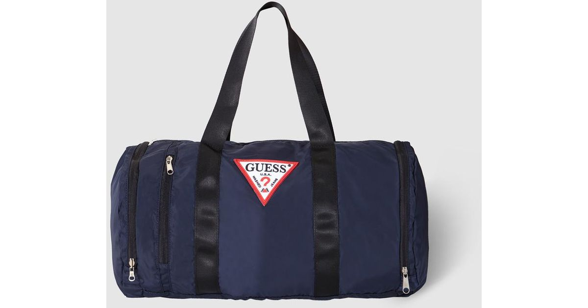 Lyst - Guess Navy Blue Sports Bag With Zip