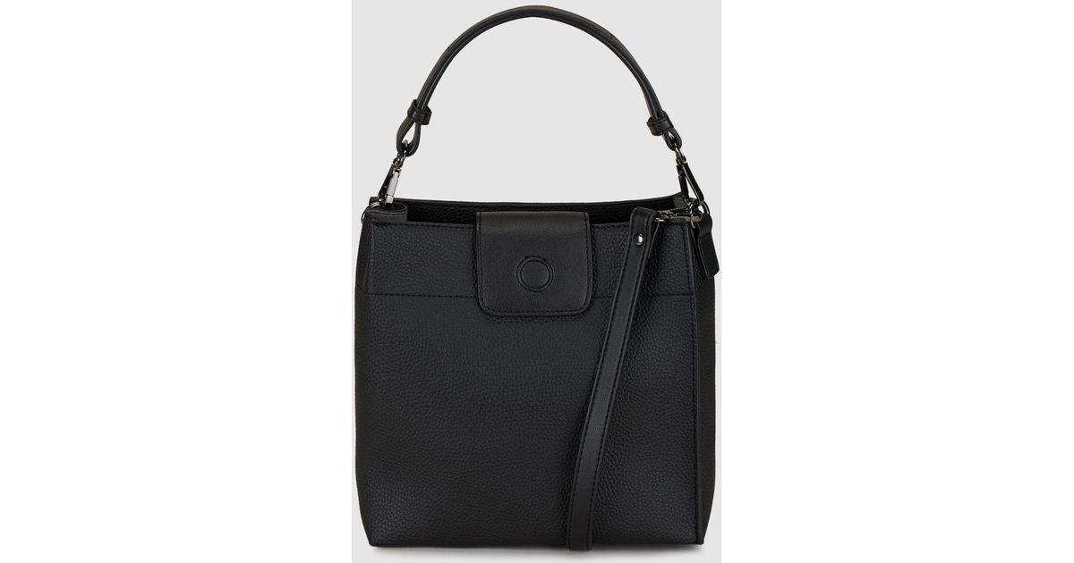 6cef4131240a Lyst - El Corte Inglés Black Hobo Bag With A Detachable Strap in Black