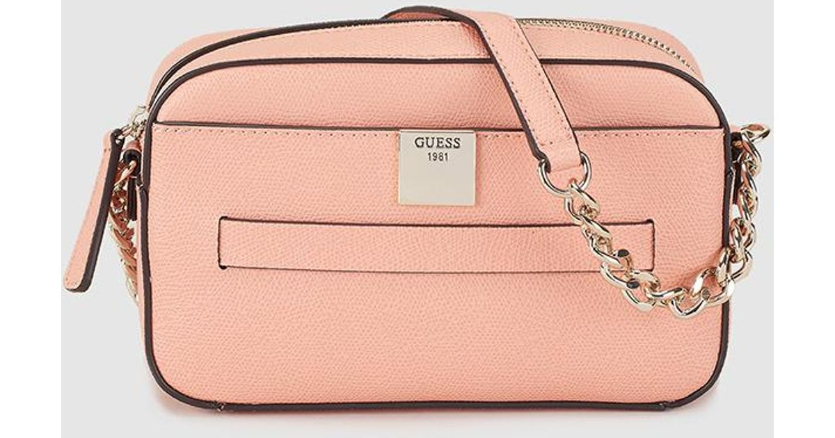 Guess Wo Small Coral Crossbody Bag With Zip